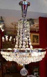 Lustre Fontaine Epoque Art Deco En Cristal De Baccarat-3