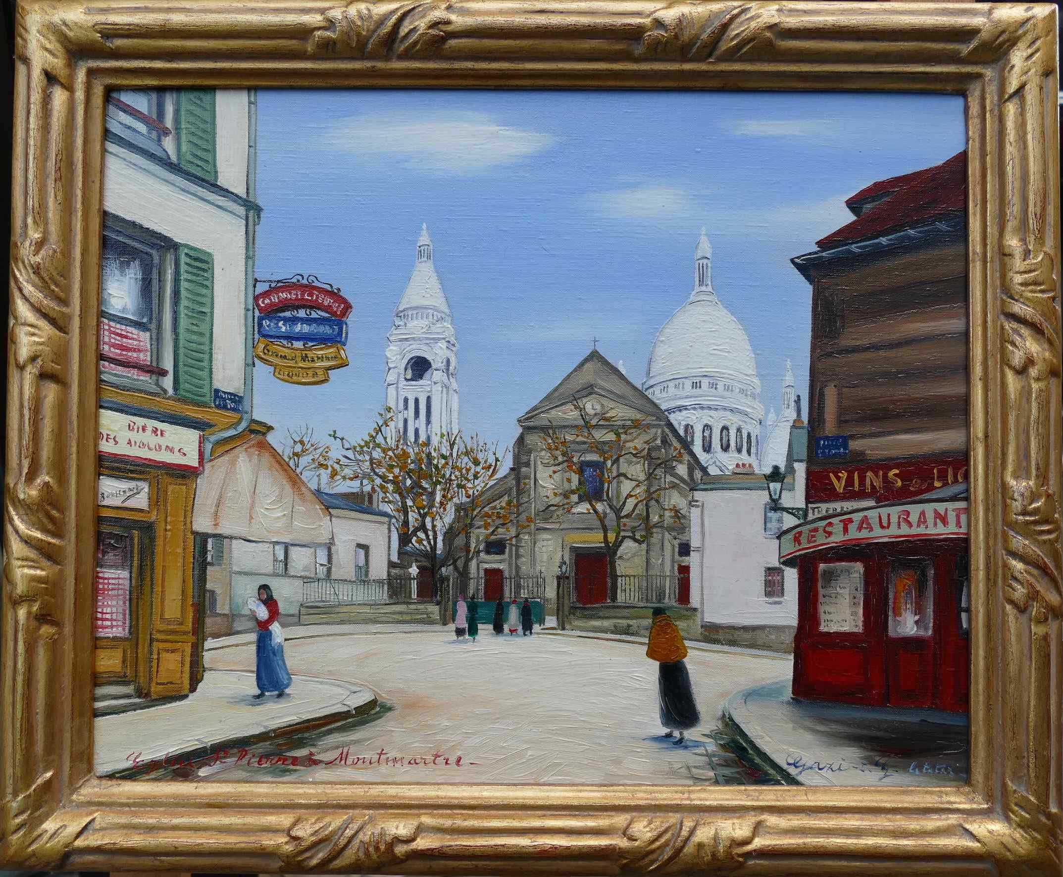 Paris Montmartre by Gazi Le Tatar Signed Painting