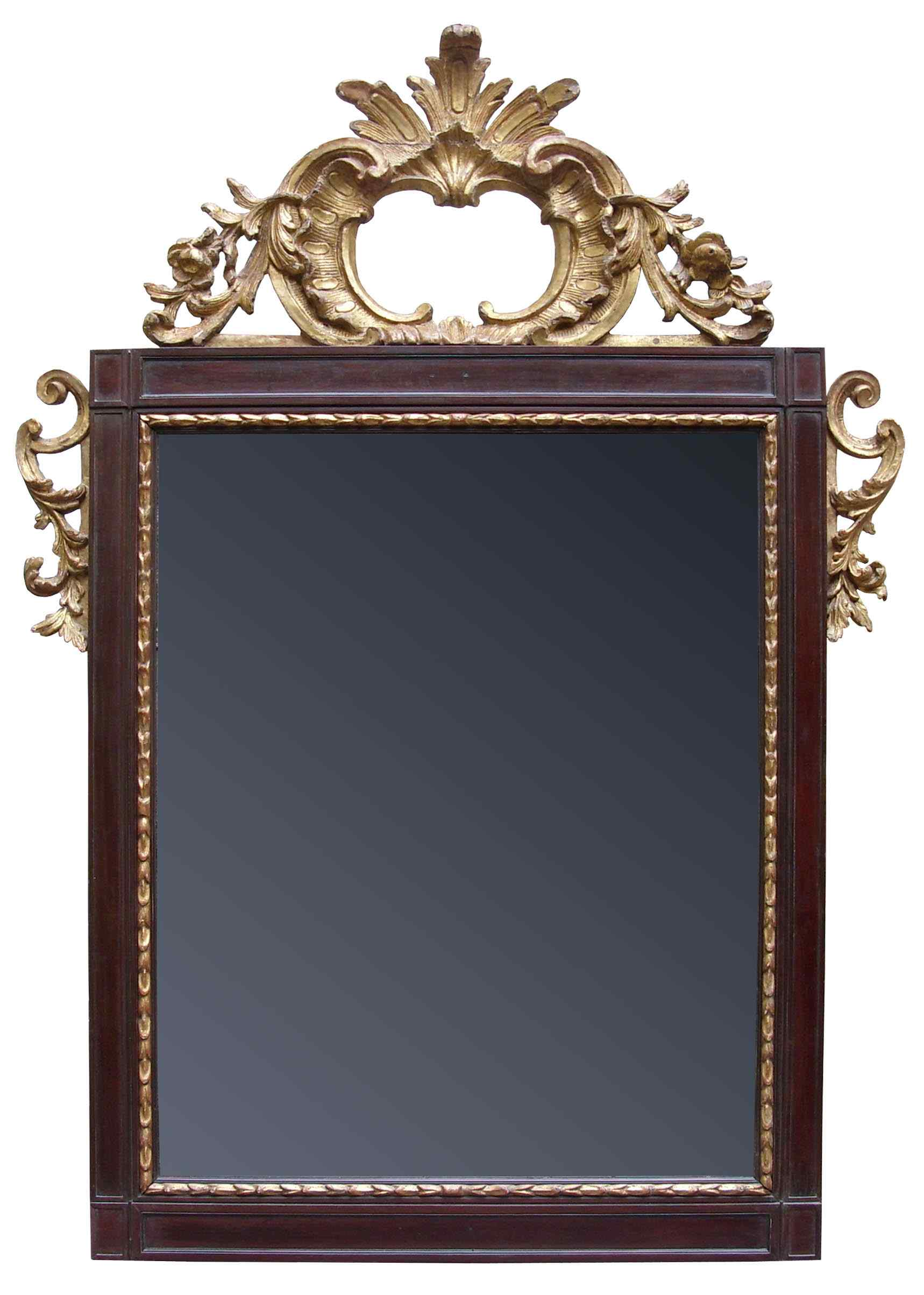 17th century, mirror with coping