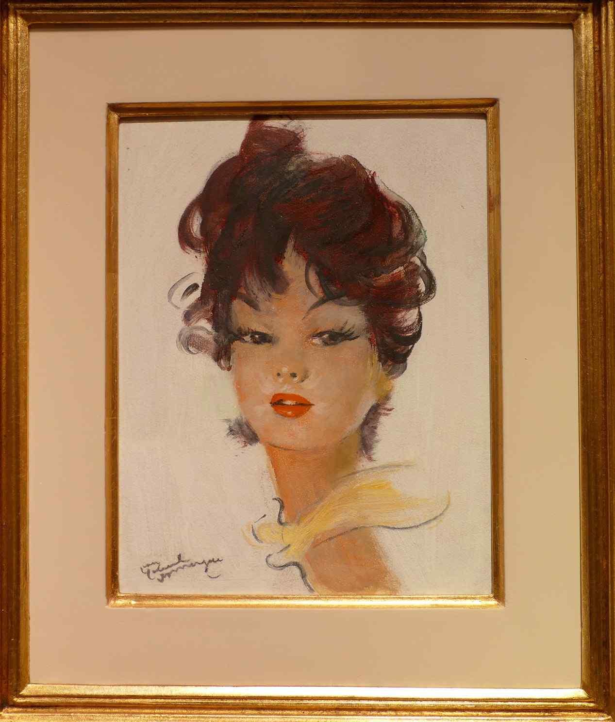 Portrait of a young woman by Jean Gabriel Domergue