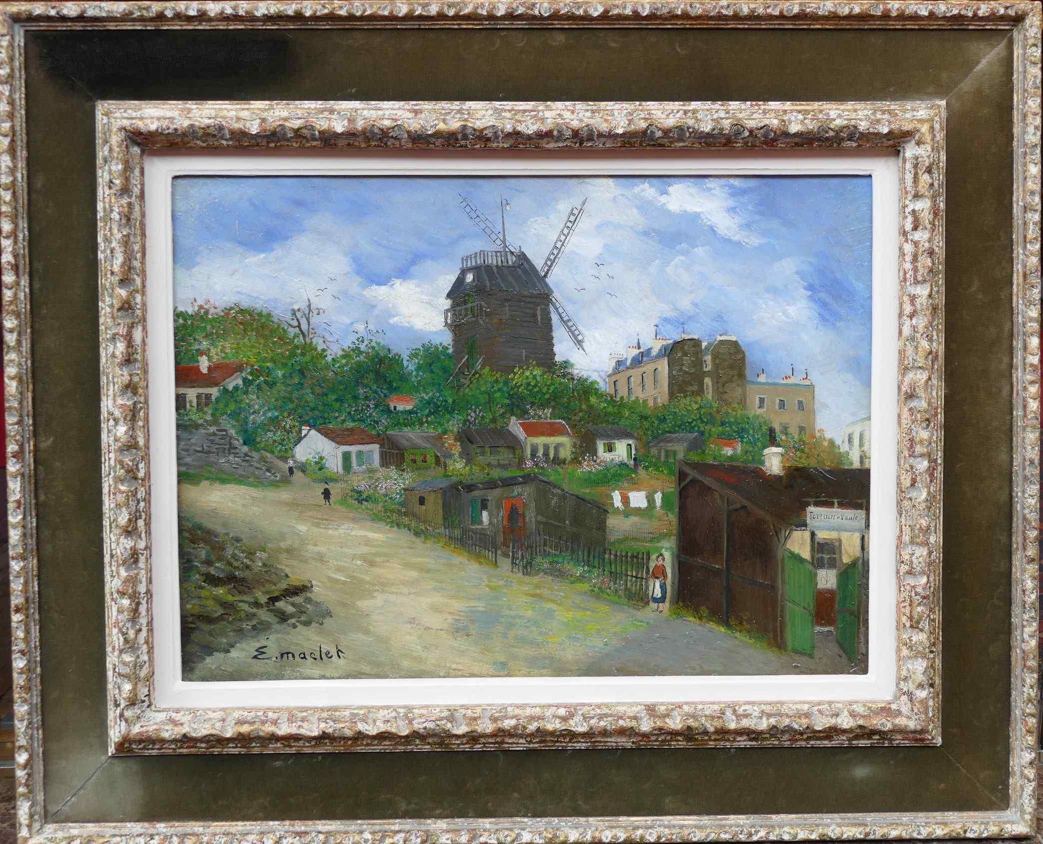 Paris Montmartre Moulin De La Galette by Elisée Maclet