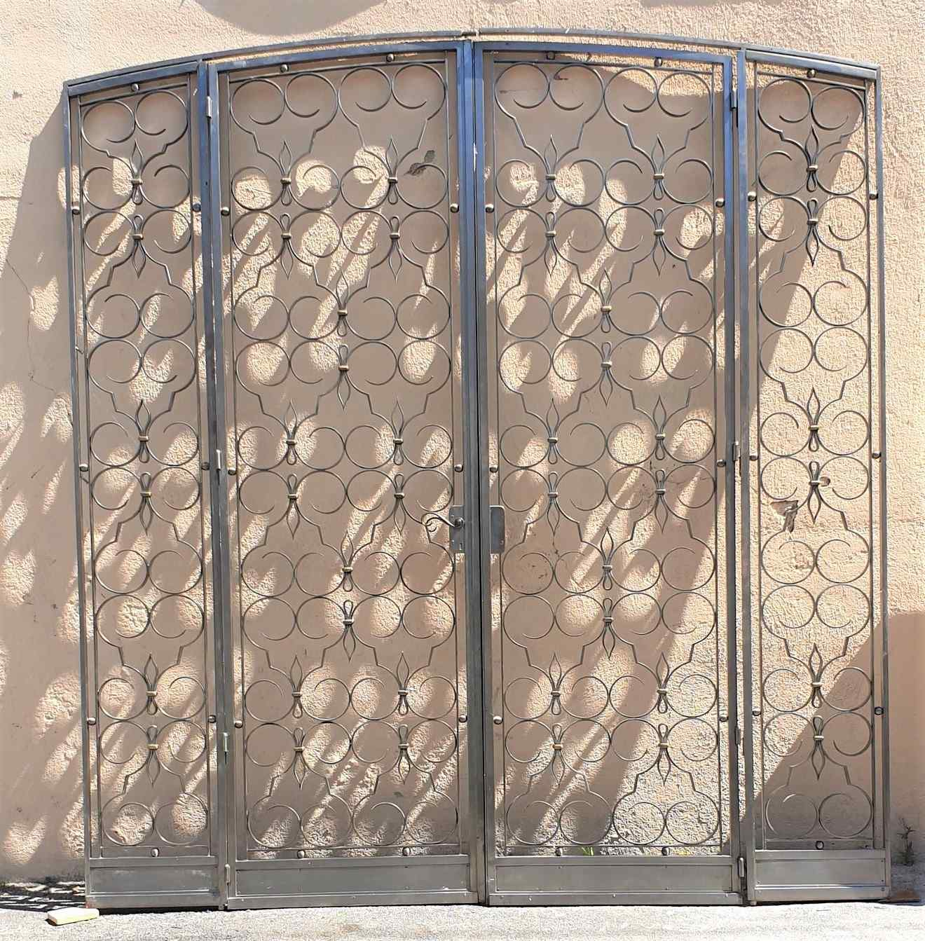 Charles Piguet, Double interior wrought iron door, 20th cent