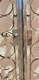 Charles Piguet, Double interior wrought iron door, 20th cent-13