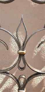 Charles Piguet, Double interior wrought iron door, 20th cent-11