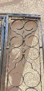 Charles Piguet, Double interior wrought iron door, 20th cent-5
