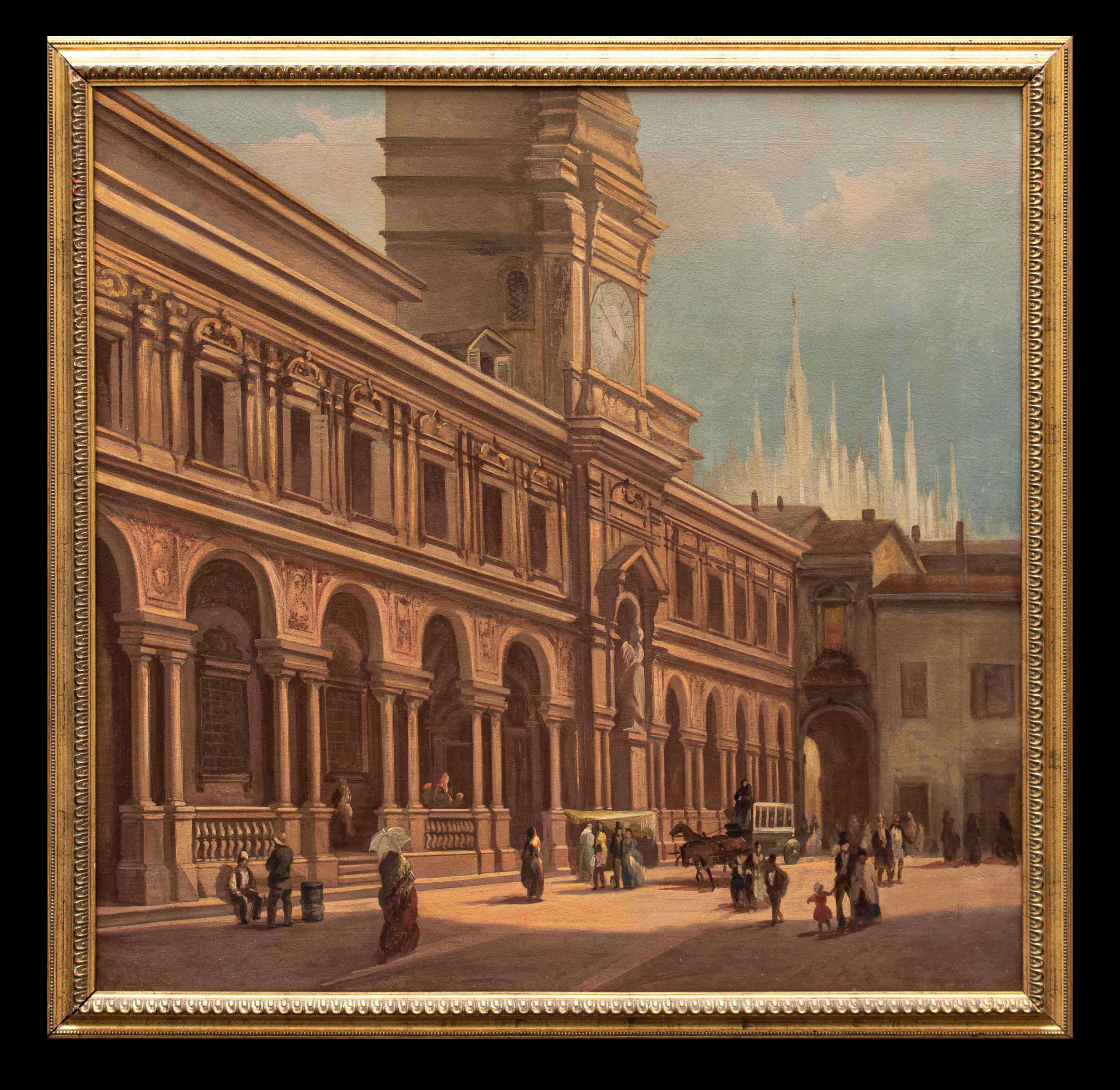 Piazza dei Mercanti a Milano, Carlo Canella (1800 - 1879)