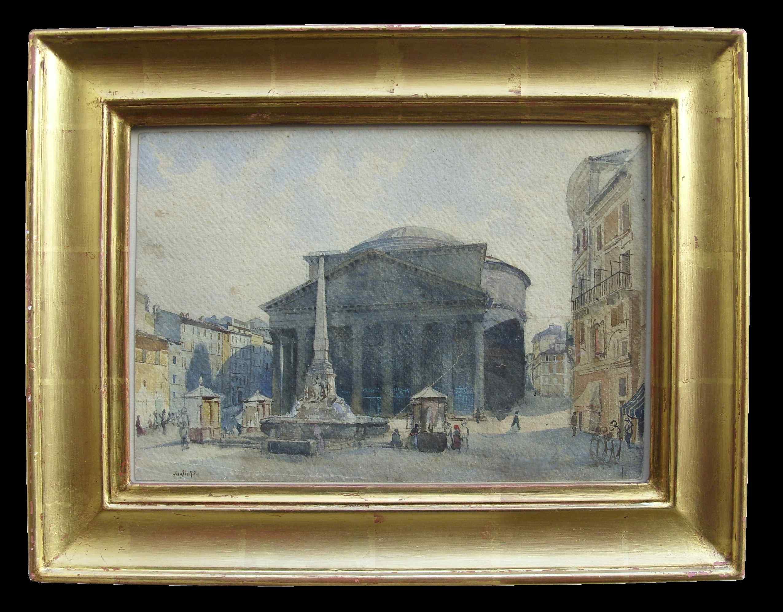 Piazza della Rotonda a Roma, XIX secolo