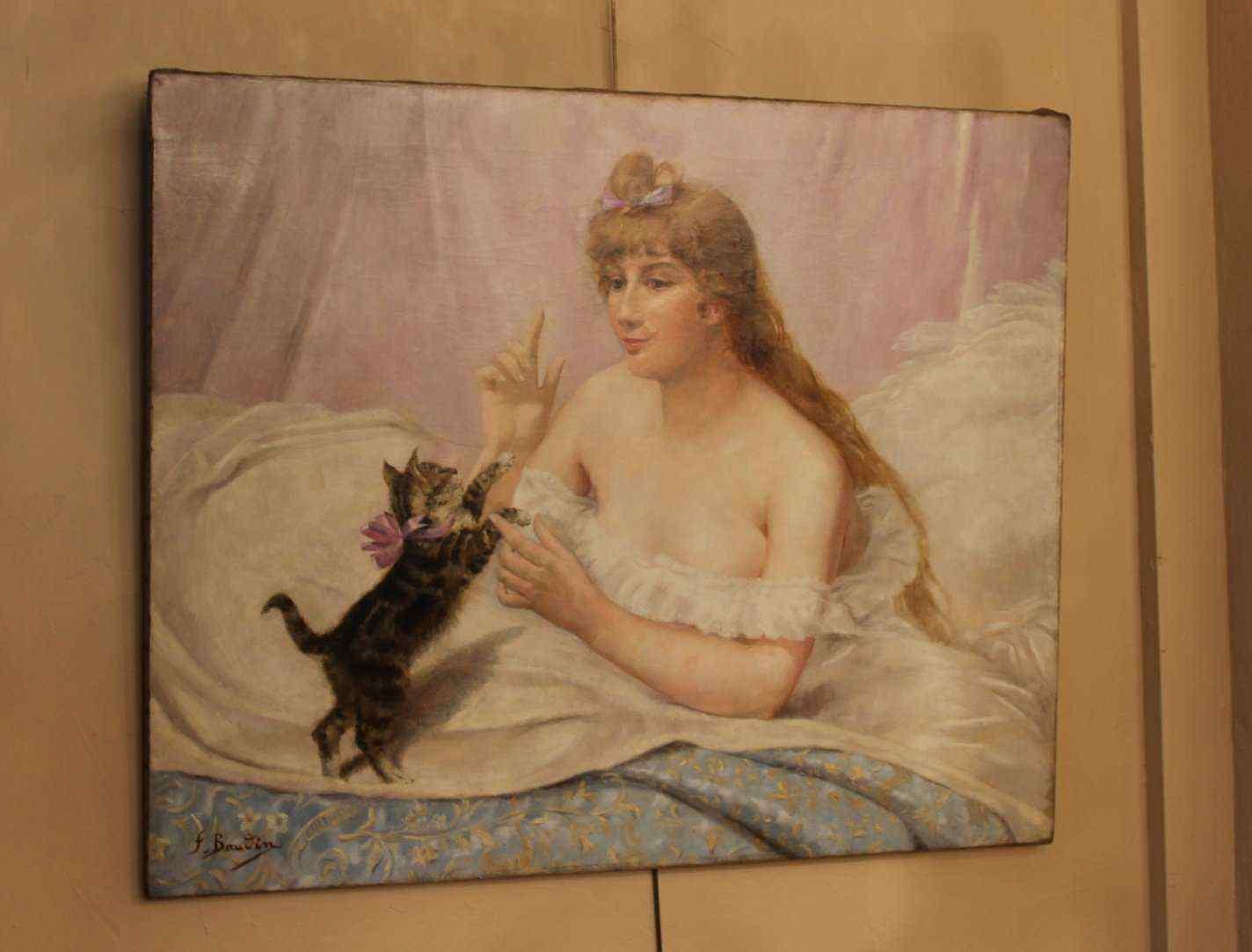 Rappresentante HST una donna e un gattino