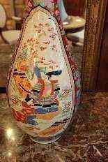 Coppia di vasi giapponesi della fine del XIX secolo-0