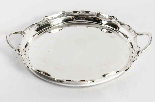 Antique Victorian Silver Plated Tray Walker & Hall 1880-4