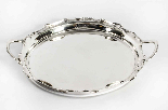 Antique Victorian Silver Plated Tray Walker & Hall 1880-5