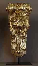 Paires De Grandes Consoles Aux Lions XIXème-1