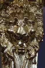 Paires De Grandes Consoles Aux Lions XIXème-3