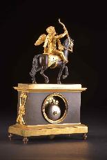 Cupido on horseback, Directoire pendule ca. 1785-10
