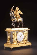 Cupido on horseback, Directoire pendule ca. 1785-5