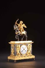 Cupido on horseback, Directoire pendule ca. 1785-6