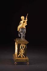 Cupido on horseback, Directoire pendule ca. 1785-11
