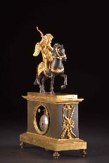 Cupido on horseback, Directoire pendule ca. 1785-7