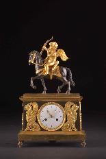 Cupido on horseback, Directoire pendule ca. 1785-8