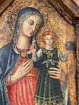 Virgin And Child Italian School Late 15th-1