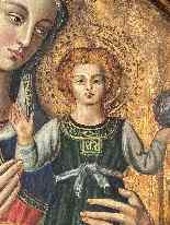 Virgin And Child Italian School Late 15th-4