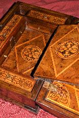Straordinario Scrigno/scrittoio da viaggio Luigi XIV-12