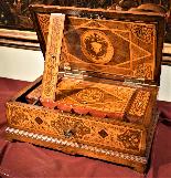 Straordinario Scrigno/scrittoio da viaggio Luigi XIV-7