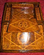 Straordinario Scrigno/scrittoio da viaggio Luigi XIV-14
