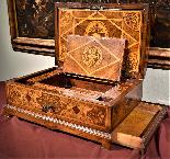 Straordinario Scrigno/scrittoio da viaggio Luigi XIV-9