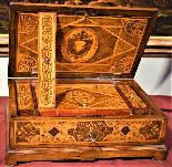 Straordinario Scrigno/scrittoio da viaggio Luigi XIV-6