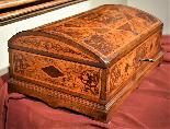 Straordinario Scrigno/scrittoio da viaggio Luigi XIV-3