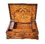 Straordinario Scrigno/scrittoio da viaggio Luigi XIV-17