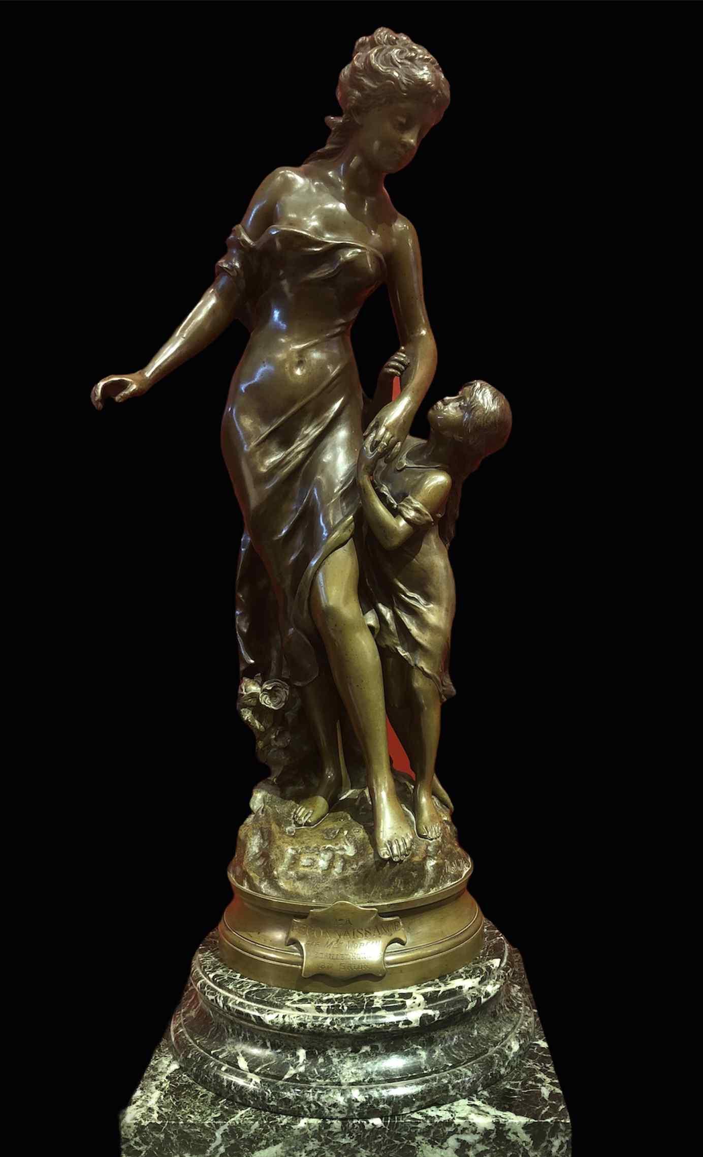 Il riconoscimento in bronzo firmato 19th Century da Mathurin