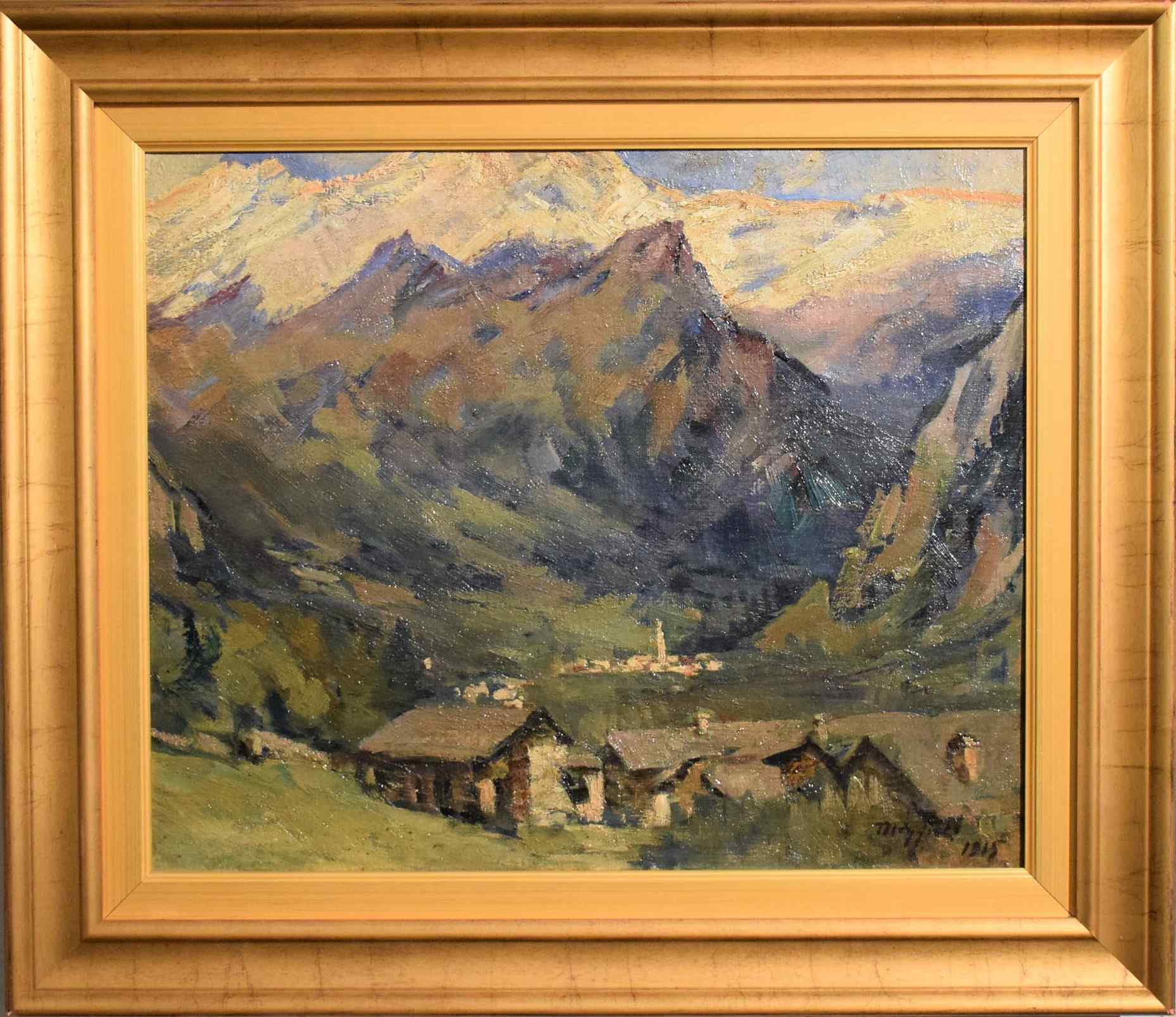 Umberto Moggioli - Mountain Landscape