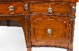Antique George III Flame Mahogany Serpentine Sideboard 19th-3