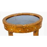 Antique Pair Edwardian Satinwood Bijouterie Display Tables-3