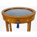 Antique Pair Edwardian Satinwood Bijouterie Display Tables-4