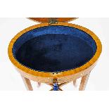 Antique Pair Edwardian Satinwood Bijouterie Display Tables-7
