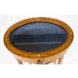 Antique Pair Edwardian Satinwood Bijouterie Display Tables-2