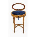 Antique Pair Edwardian Satinwood Bijouterie Display Tables-6