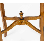 Antique Pair Edwardian Satinwood Bijouterie Display Tables-8