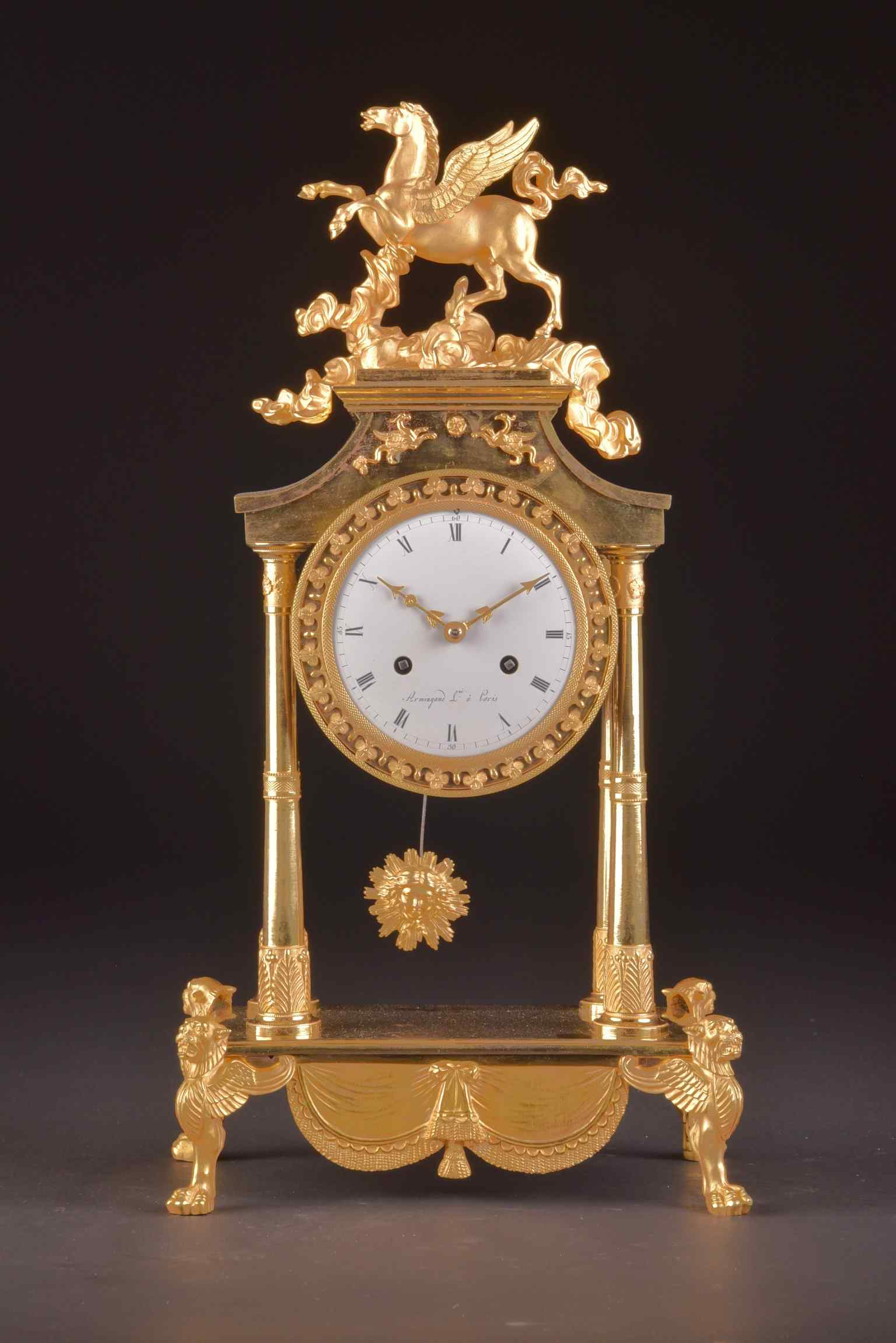 Pegasus, A spectacular French Empire pendule