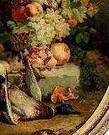 Natura morta con fiori, frutta e cacciagione, Francia-1