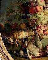 Natura morta con fiori, frutta e cacciagione, Francia-3