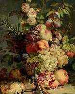 Natura morta con fiori, frutta e cacciagione, Francia-2