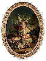 Natura morta con fiori, frutta e cacciagione, Francia-4