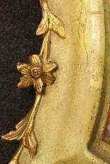 Specchiera veneziana laccata e dorata della fine del XIX -3