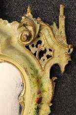 Specchiera veneziana laccata e dorata della fine del XIX -10