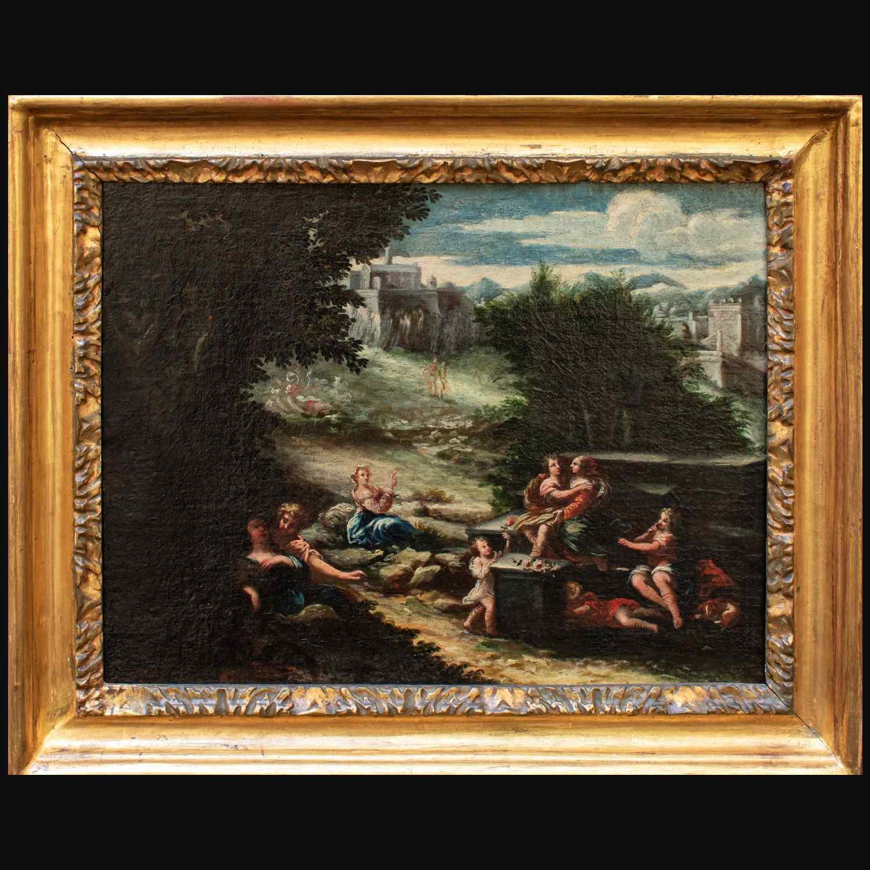 Scena agreste, Scuola emiliana, XVII secolo