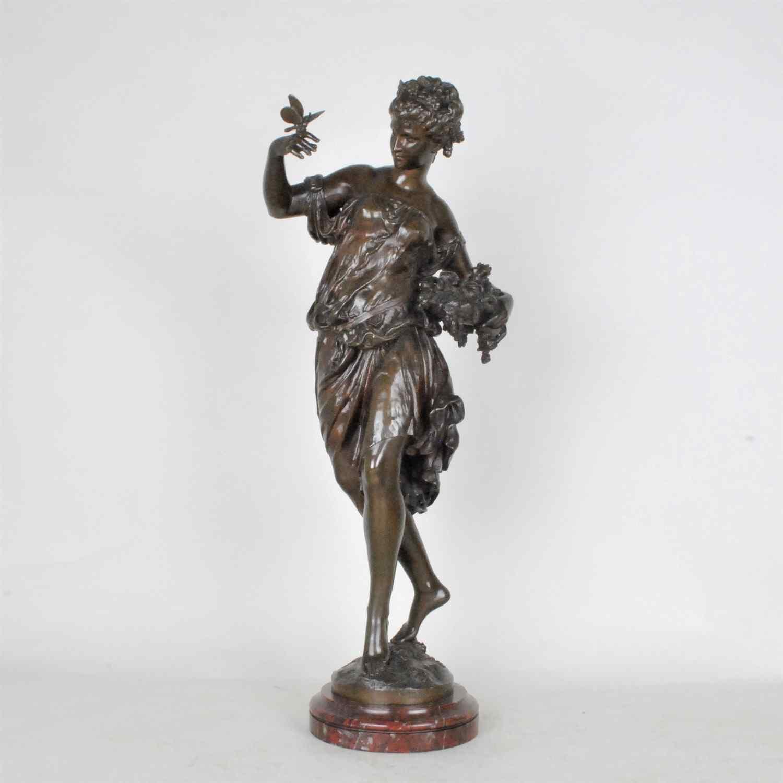 Math Moreau, Estate, bronzo firmato XIX secolo
